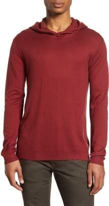 John Varvatos Diagonal Stitch Hooded Sweater
