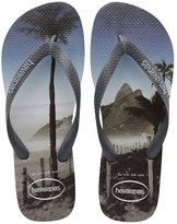 Havaianas Hype Photo Print White Grey Steel Men's Flip Flops All Sizes
