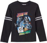 "Lego Boys 4-7 Star Wars Darth Vader & Stormtrooper ""Join The Dark Side"" Graphic Tee"