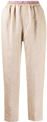Forte Forte Tailored High-Rise Cropped Trousers
