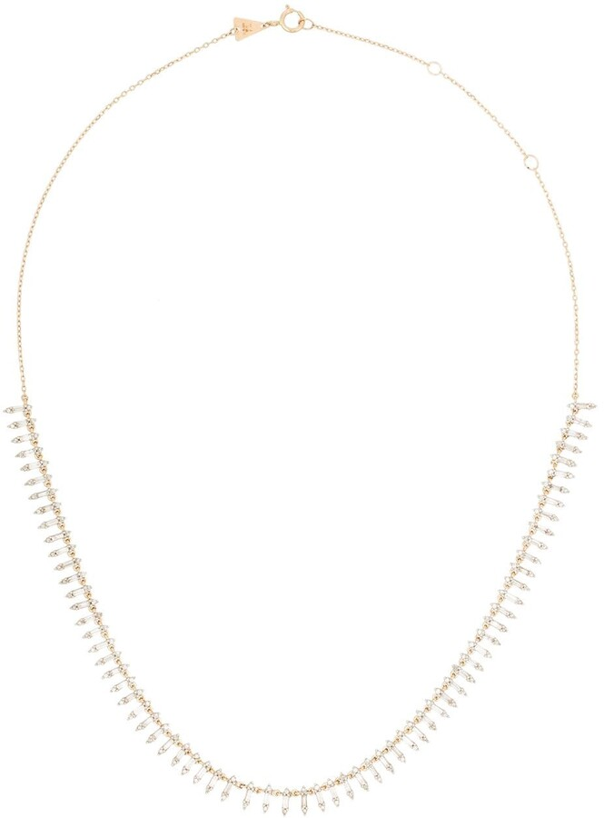 Adina Reyter 14K yellow gold Half Riviera diamond necklace
