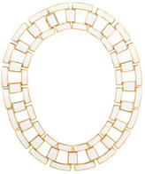 Rachel Zoe Leather Link Collar Necklace
