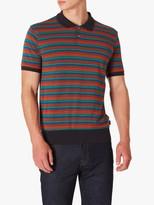 Paul Smith Stripe Polo Shirt, Orange/Aqua