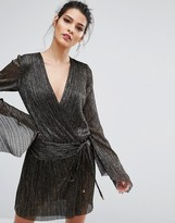 Bec & Bridge Glitter Rain Long Sleeve Dress