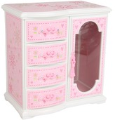 Mele Ballerina Musical Armoire Jewelry Box (Pink) - Accessories