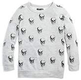 Aqua x Lauren Moshi Girls' Skull Sweatshirt, Big Kid - 100% Exclusive