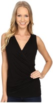 Karen Kane Sleeveless Faux Wrap Top