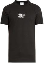 Vetements X Hanes Staff cotton T-shirt