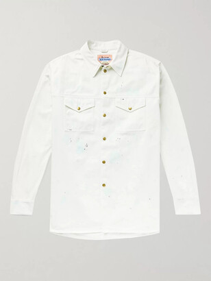 Acne Studios Paint-Splattered Cotton-Twill Shirt Jacket