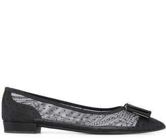 Salvatore Ferragamo Vara bow mesh ballerina shoes