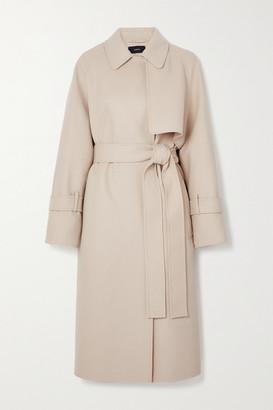 Joseph Cottrell Belted Wool And Cashmere-blend Felt Coat - Cream