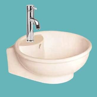 The Renovators Supply Inc. Above Counter Gloss Vitreous China Circular Vessel Bathroom Sink with Overflow The Renovators Supply Inc.