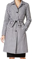 Anne Klein Women's Gingham Trench Coat