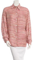 Missoni Linen Button-Up Top