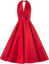 Romona Keveza plunge full skirt gown