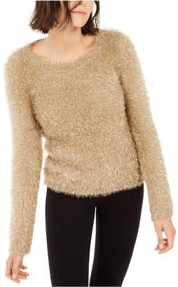 INC International Concepts Inc Metallic Eyelash-Knit Sweater