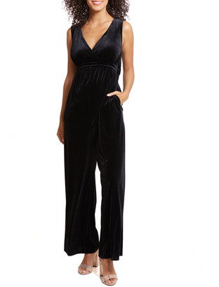 Ingrid & Isabel Maternity Velvet Adjustable Waist Jumpsuit