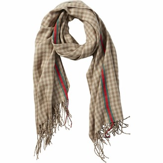 Tickled Pink Women's Check Fringe Scarf