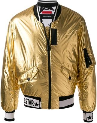 Dolce & Gabbana Star metallic bomber jacket