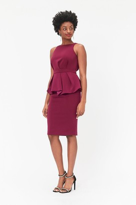 Coast Peplum Waist Shift Dress