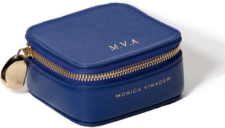 Monica Vinader Personalised Leather Trinket Box with dustbag