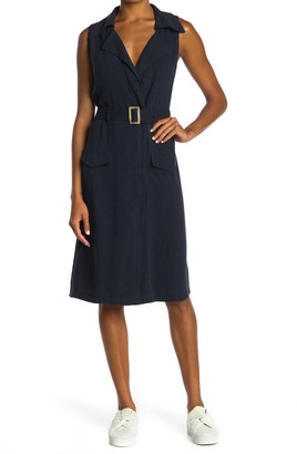 FAVLUX Sleeveless Blazer Midi Dress