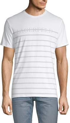 Karl Lagerfeld Paris Graphic Cotton Blend Tee