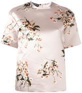 Rochas floral print short sleeve blouse