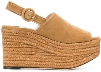 Jimmy Choo Deya 95mm wedge sandals
