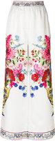 Dolce & Gabbana Majolica print trousers - women - Silk - 38