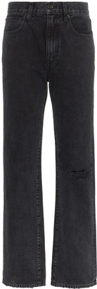 SLVRLAKE Ripped Knee Straight Jeans