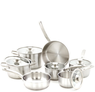 Old Dutch 12Pc Stainless Steel Cookware Set