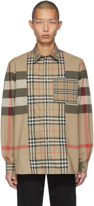 Burberry Beige Check Tisdal Shirt