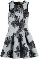 MSGM Floral Bonded Jersey & Neoprene Dress