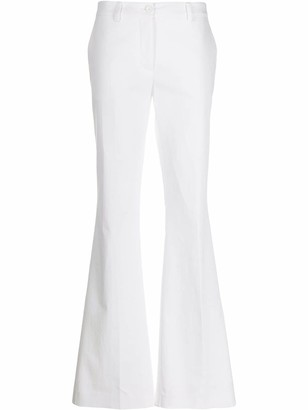 P.A.R.O.S.H. low-waist flared trousers