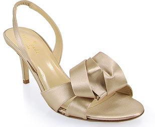 Kate Spade Madison - Champagne Satin Slingback Sandal