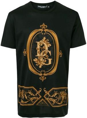 Dolce & Gabbana logo baroque print T-shirt