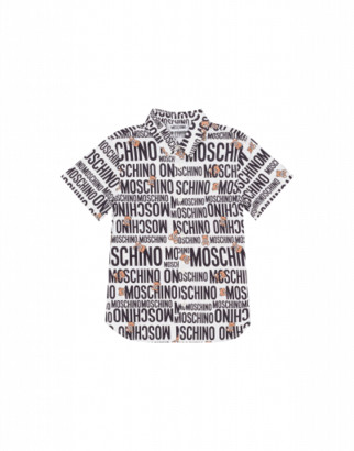 Moschino Teddy Logo Shirt Man White Size 4a