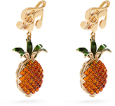 Dolce & Gabbana Pineapple crystal-embellished clip-on earrings