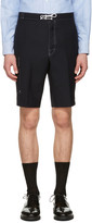 Thom Browne Navy Constructed Square Pocket Shorts