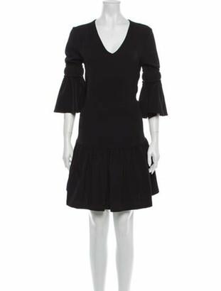 Ganni V-Neck Mini Dress Black