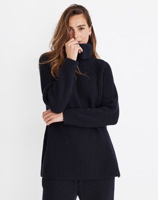 Madewell Maitland Ribbed Turtleneck Tunic Sweater