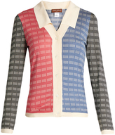 DURO OLOWU Contrast-panel silk cardigan