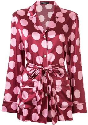 Dolce & Gabbana Large Polka-Dot Print Shirt