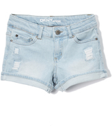 DKNY Chelsea Wash Ripped Backing Shorts - Girls