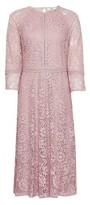 Dorothy Perkins Womens Dp Tall Pink Lace Fit And Flare Dress, Pink