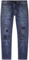 Diesel Krooley 0675z Distressed Slim-leg Jeans