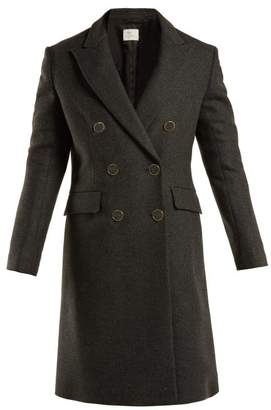 Hillier Bartley Double Breasted Wool Blend Coat - Womens - Dark Grey