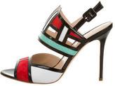 Aperlaï Suede Colorblock Sandals w/ Tags