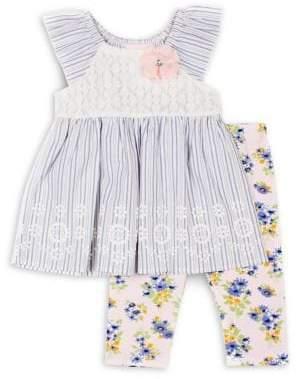 Little Lass Little Girl's 2-Piece Stretch-Cotton Tunic & Leggings Set